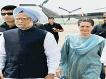 Prime Minister Manmohan Singh has praised the Army and asserted that the entire country stands united against terrorism, linking peace with development on his visit to the Kashmir valley a day after militants killed eight soldiers. In Pic: Manmohan Singh and Sonia Gandhi in Kishtwar district.