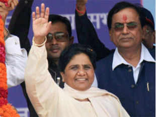 BSP chief Mayawati on Sunday said the courts should instead ban religion-based organizations like Vishwa Hindu Parishad and Bajrang Dal.