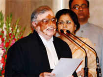 Justice P Sathasivam was today sworn in as the 40th Chief Justice of India (CJI) by President Pranab Mukherjee.