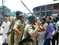As tensions ran high in the state, Authorities clamped curfew in all major towns of Kashmir and halted the Amarnath yatra.