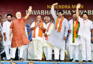 Narendra Modi appeals to non-Congress parties to come together, woos TDP
