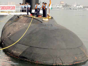 "A file picture of INS Sindhurakshak. ""Our aging and depleting underwater combat arm is a big worry,"" said a senior officer."
