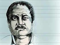 Ranked among the world's top 50 drug barons, Muhammed Iqbal Memon or Iqbal Mirchi had been issued an Interpol Red Corner Notice in 1994 on Central Bureau of Investigation's request.(In pic: Sketch of druglord Igbal Memon alias Iqbal Mirchi)