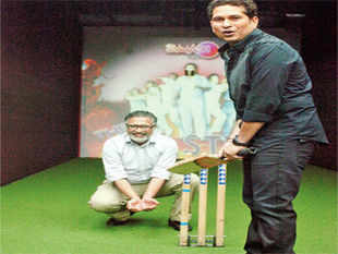 Shripal Morakhia's Smaaash Entertainment offers augmented reality simulators to play cricket and race F1 cars among other sports.