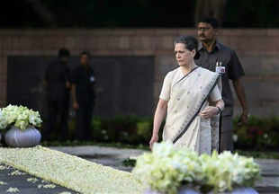 Congress president Sonia Gandhi, and vice president Rahul Gandhi, daughter Priyanka Vadra and her husband Robert Vadra, also laid flowers at the samadhi.