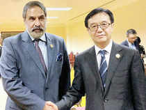 Commerce and industry minister Anand sharma has raised the issue of trade imbalance with his Chinese counterpart in Brunei on Tuesday, seeking measures for a more balanced trade.