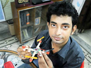 Saha has built the drone for Rs 90,000 with help from an NGO, Prantakatha, and Abhijit Mukherjee of S N Bose Centre for Basic Sciences.