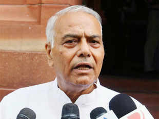 "Sinha blamed Congress leader and union minister Jairam Ramesh as being ""singularly responsible for shaving off 2.5% of the GDP"". (PTI)"