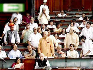 Political parties slammed the government in the Lok Sabha over the sliding rupee, which has breached the Rs 68 to a US dollar mark.