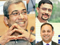 Since Murthy took over as chairman, there have been some high-profile exits from Infosys, including (clockwise from above) Ashok Vemuri, Basab Pradhan and Sudhir Chaturvedi
