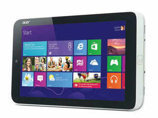 While most small tablets have either Android or iOS, Acer's Aspire W3 offers Windows 8 in an 8-inch device that weighs 540 grams and is just over 13cm wide.