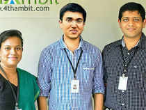 (From left) Ruby Peethambaran, Shyam Menon and Jikku Jolly.  As for their revenue model, 4th Ambit takes a one-time fee of Rs 1.5 lakh from colleges in lieu of their services while annual subscription costs Rs 50,000.