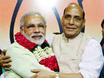 """As Advani continues to sulk over Modi's anointment as BJP's prime ministerial candidate, Rajnath said the patriarch had the """"right"""" to be angry"""