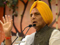 Rajnath had reached Advani's sprawling Prithviraj Road bungalow as part of a last-ditch effort to get the former deputy PM relent on his opposition to Modi's projection as PM candidate.