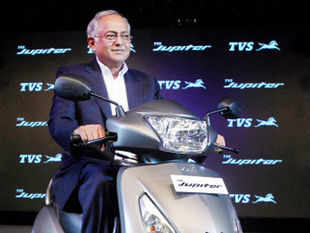 TVS Motor Company, Chairman and Managing Director, Venu Srinivasan launches the new 110cc scooterette 'Jupiter' in Chennai on Monday.