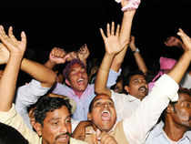 In pics: People celebrating the formation of new state_Telengana