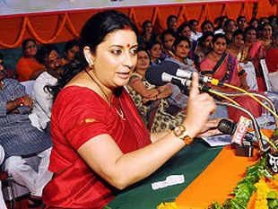 """Narendra Modi today symbolises the youth of the country - the fact that if you have talent, if you can work hard then you can have the possibility of becoming the next prime minister of India,"" Smriti Irani said."