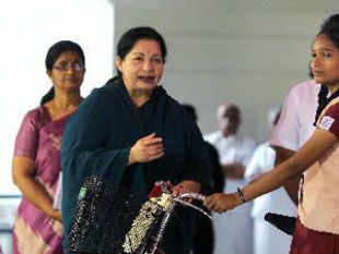 Jayalalithaa today hit out at arch rival M Karunanidhi and his family for their alleged 'stranglehold' over the Tamil film industry.
