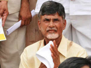"In a memorandum submitted to the President, Naidu accused Congress of handling the ""sensitive issue"" with ""political motives."""