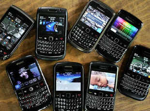 BlackBerry reported a more than 40 pc plunge in sales raising concern that it's on the same downward spiral as Palm Inc.