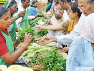 Many farmers are selling organic vegetables in small towns at a relatively small premium over the chemical-laden vegetables, and are making money by bypassing middlemen.
