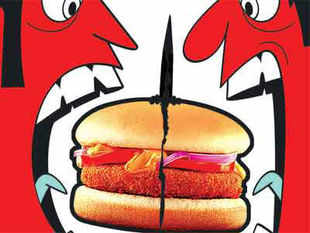 Bakshi's contention is this: While McDonald's levies royalty charges on the local joint ventures for selling items on the menu, the US company isn't paying such fees to the India units for selling the vegetarian burger in West Asian and Southeast Asian countries.