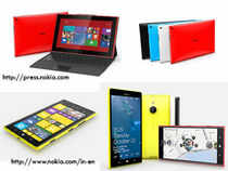 The new Lumias use Microsoft's Windows Phone OS & will face tough competition from large-screen smartphones from Samsung and Apple.