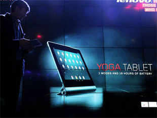 Yoga Tablet has been ergonomically designed to aid a longer and comfortable Tablet viewing experience.