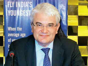 The Wadia Group-controlled GoAir plans to introduce new business class products and connect to various Tier II cities over 5 years.  In pic: Giorgio De Roni, CEO, GoAir