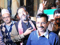 Through the day, Kejriwal's family and supporters were glued to TV sets and celebrations began soon after news of AAP's stunning results spread.
