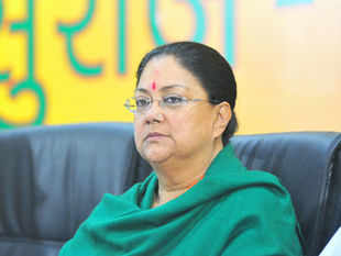 Raje also met her party leaders including BJP President Rajnath Singh and senior leader Lal Krishna Advani.