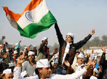 """Kejriwal followed up his fiery speech after swearing in with the song """"Insaan ka insaan se ho bhaichaara..."""" from the 1959 film 'Paighaam."""
