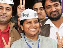 Birla walked in to her office in ana unassuming manner wearing a Aam Aadmi Party cap and taking stock of the work she had to do.