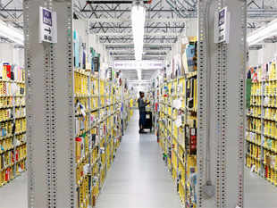 "First in South India, the center spread over 150,000 sq.ft is a multi-level, secure facility which can stock and store millions of products across several categories from sellers using ""Fulfillment by Amazon."""