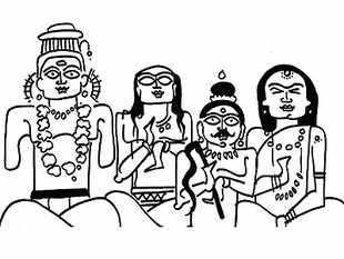 Devdutt Pattanaik says that the image of Jagannath in Puri expresses the essential incompleteness of all things around us