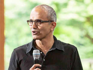 By any standard, Yugandhar, 76, is a high achiever, a trait also possessed by his son Satya Nadella (in pic).