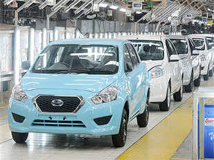 The first model, Datsun Go, a hatchback in the under Rs 4-lakh price band, was rolled out yesterday at its Chennai plant and will be ready for bookings next month.