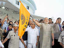 "Gujarat Chief Minister Narendra Modi said that six to eight ""world-class"" bus stations will be constructed across the state in the near future."