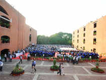 Students at IIM-Ahmedabad's 48th Convocation in Ahmedabad.