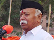 """In a dig at the media, RSS chiefMohanBhagwattoday said someone he met recently had been under the impression that he (Bhagwat) would be a """"frightening"""" person"""