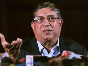 If Srinivasan does step down, it would leave him with the option of fighting back for the president's post during the annual general meeting in September.
