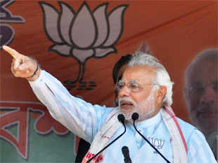 """At Delhi airport, I sat from 9:30 am onwards, but our aircraft was not being allowed to take off,"" Modi told crowds in Bareilly."