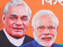 Stoking a fresh political war, Congress praised ex-PM Atal Bihari Vajpayee on its website, saying that no leader in BJP can match his stature.