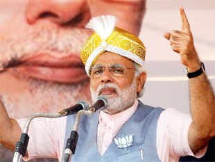 Modi replies to a question in a TV interview on why he wouldn't wear a skull cap when he's worn or accepted different headgear in various parts of India.