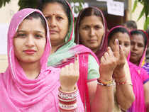 About 60 per cent of electorate cast their votes till 3 PM in three Naxal-hit Lok Sabha constituencies in Chhattisgarh during the second phase of polling, which has so far remained peaceful.