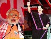 Whilst the BJP's PM candidate is treading with caution in Tamil Nadu, the AIADMK supremo, who is the darkest of horses in the PM race, is pulling no punches.