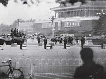 Tiananmen Square turned into an armed camp in 1989 after it was cleared of pro-democracy student protesters