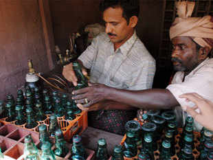 File Photo: 'Goli soda', an old type of soda making shop put up at 'Tulu Village' at World Tulu Convention at Ujire.