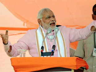 "Narendra Modi today rued the ""decline"" in journalistic freedom in the public broadcaster and invoked ""horrific"" memories of the Emergency days in 1975."