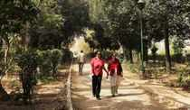 People walking in a public garden in Delhi. (TOI photo)
